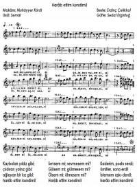 Şarkının notaları